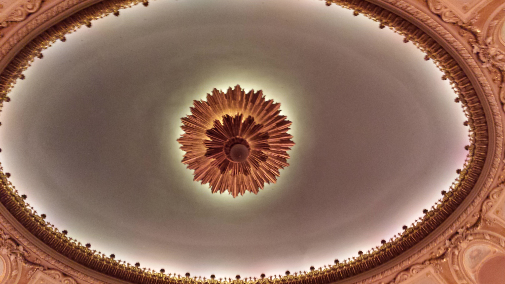 Ceiling of the Wang Theater in Boston, MA